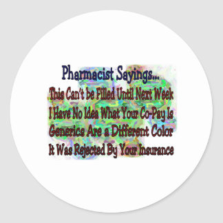 """Pharmacist sayings """"You Know You're Pharmacist IF"""" Classic Round Sticker"""
