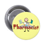 Pharmacist Stick Person--Gifts 2 Inch Round Button