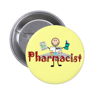 Pharmacist Stick Person--Gifts Button