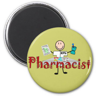 Pharmacist Stick Person--Gifts 2 Inch Round Magnet