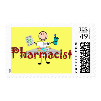 Pharmacist Stick Person--Gifts Postage Stamp