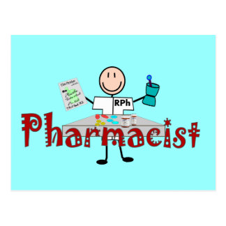 Pharmacist Stick Person--Gifts Postcard