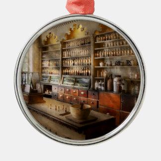 Pharmacist - The dispensatory Round Metal Christmas Ornament