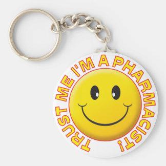 Pharmacist Trust Me Basic Round Button Keychain