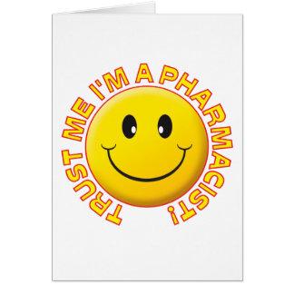 Pharmacist Trust Me Greeting Card