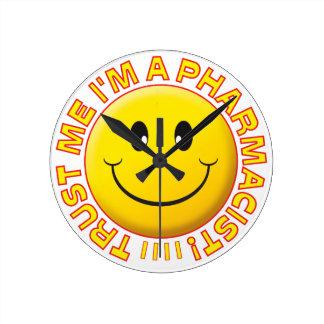 Pharmacist Trust Me Smiley Wallclock