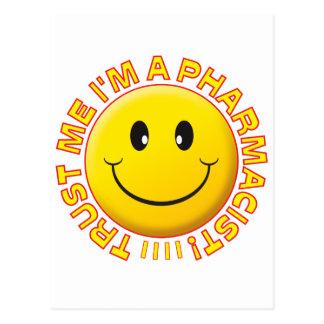 Pharmacist Trust Me Smiley Post Cards