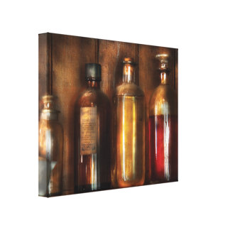 Pharmacist - Various Elixers  Gallery Wrapped Canvas