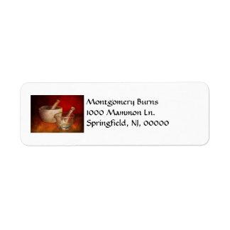 Pharmacist - Very important tools Return Address Label