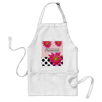 Pharmacist Whimsical Flowers Adult Apron