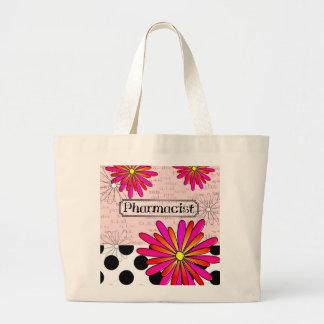 Pharmacist Whimsical Flowers Bags