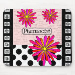 Pharmacist Whimsical Flowers Mouse Pad