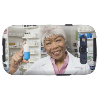 Pharmacist with giant pill galaxy s3 cover