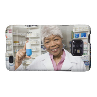 Pharmacist with giant pill samsung galaxy s cover