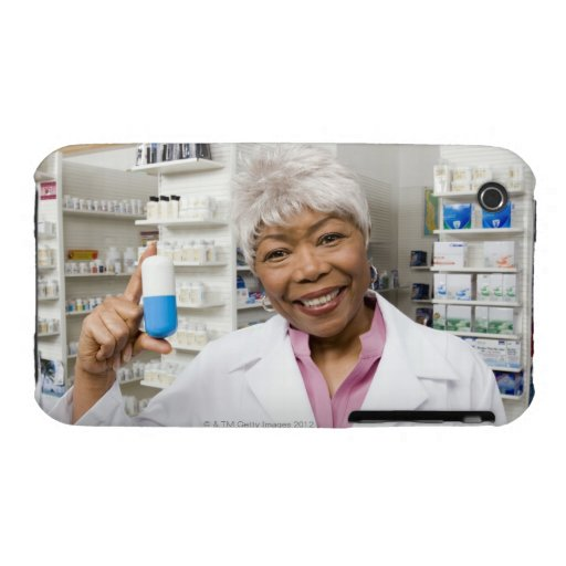 Pharmacist with giant pill iPhone 3 Case-Mate cases