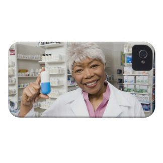 Pharmacist with giant pill iPhone 4 cover