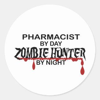 Pharmacist Zombie Hunter Classic Round Sticker