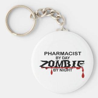 Pharmacist Zombie Basic Round Button Keychain
