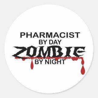 Pharmacist Zombie Stickers