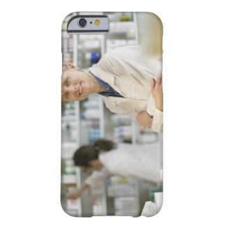 Pharmacists at counter of retail pharmacy barely there iPhone 6 case