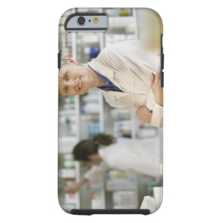 Pharmacists at counter of retail pharmacy tough iPhone 6 case