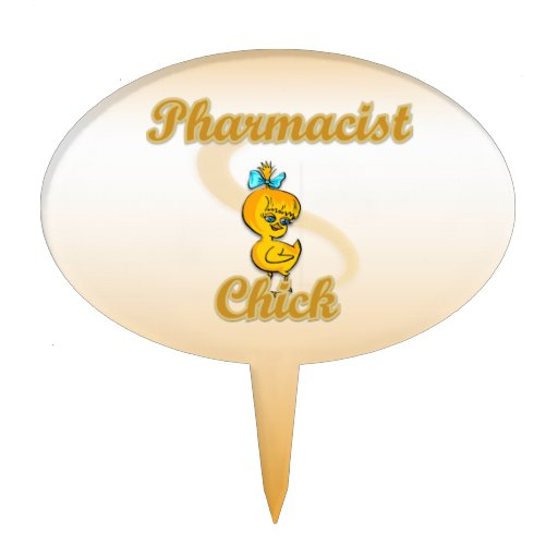 Pharmacists Chick Oval Cake Topper