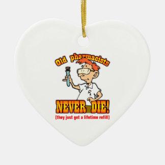 Pharmacists Double-Sided Heart Ceramic Christmas Ornament