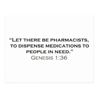 Pharmacists / Genesis Postcard
