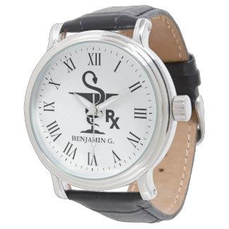 Pharmacology Custom Name Bowl of Hygenia Symbol Wrist Watch