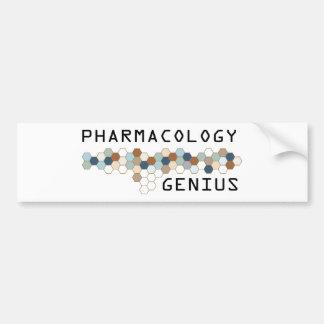 Pharmacology Genius Car Bumper Sticker