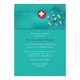 Pharmacology Graduation Invitation