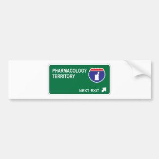 Pharmacology Next Exit Car Bumper Sticker