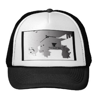 PHARMACY ABROAD BLACK AND WHITE ILLUSTRATION HATS