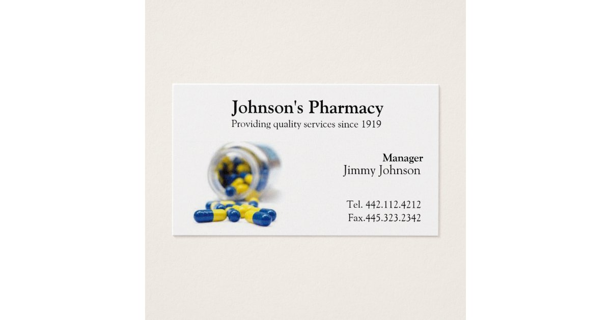 Pharmacy Business Card Pharmacist | Zazzle.com