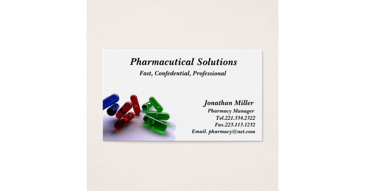 Pharmacy Business Card Pharmacist | Zazzle.com