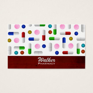 Pharmacy Business Cards -background changeable