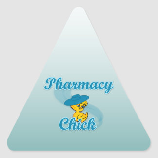 Pharmacy Chick #3 Triangle Sticker
