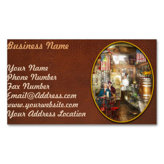 Pharmacy - Collins Pharmacy 1915 Magnetic Business Card
