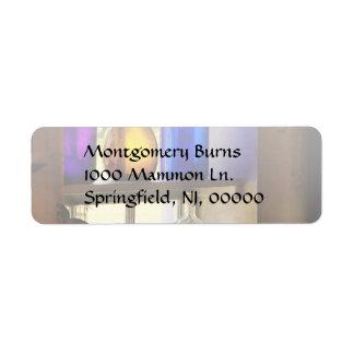 Pharmacy - Colorful glassware Label
