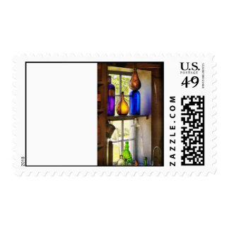 Pharmacy - Colorful glassware Postage Stamp