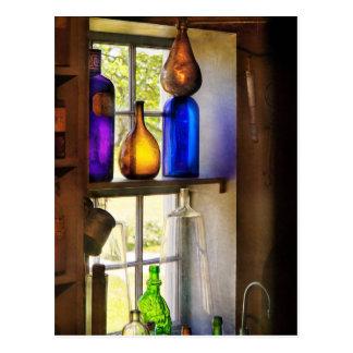 Pharmacy - Colorful glassware Postcard