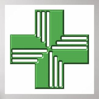 Pharmacy Cross Poster