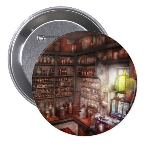 Pharmacy - Equipment - Merlin's Study 3 Inch Round Button