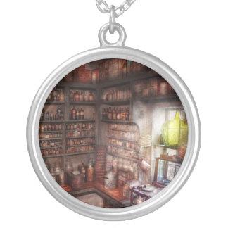 Pharmacy - Equipment - Merlin's Study Round Pendant Necklace