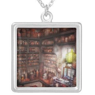 Pharmacy - Equipment - Merlin's Study Square Pendant Necklace