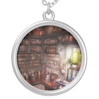 Pharmacy - Equipment - Merlin's Study Silver Plated Necklace
