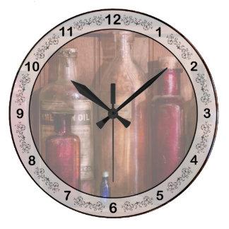 Pharmacy - From Antacids to Antiseptics Large Clock