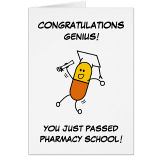Pharmacy Graduation Greeting Card
