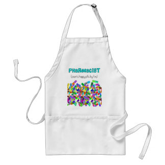 "Pharmacy ""Happy Pills"" Design Adult Apron"