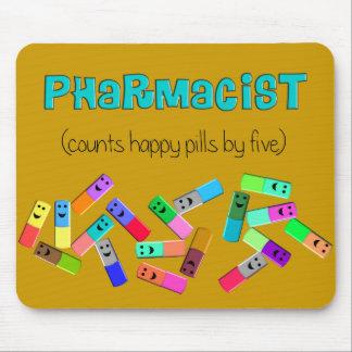 "Pharmacy ""Happy Pills"" Design Mouse Pad"